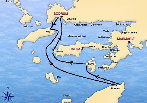 Turkey Greece Gulet Cruise from Bodrum Turkey Tour Specialist