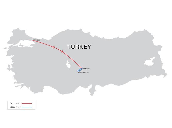 Cappadocia Explorer Tour Map