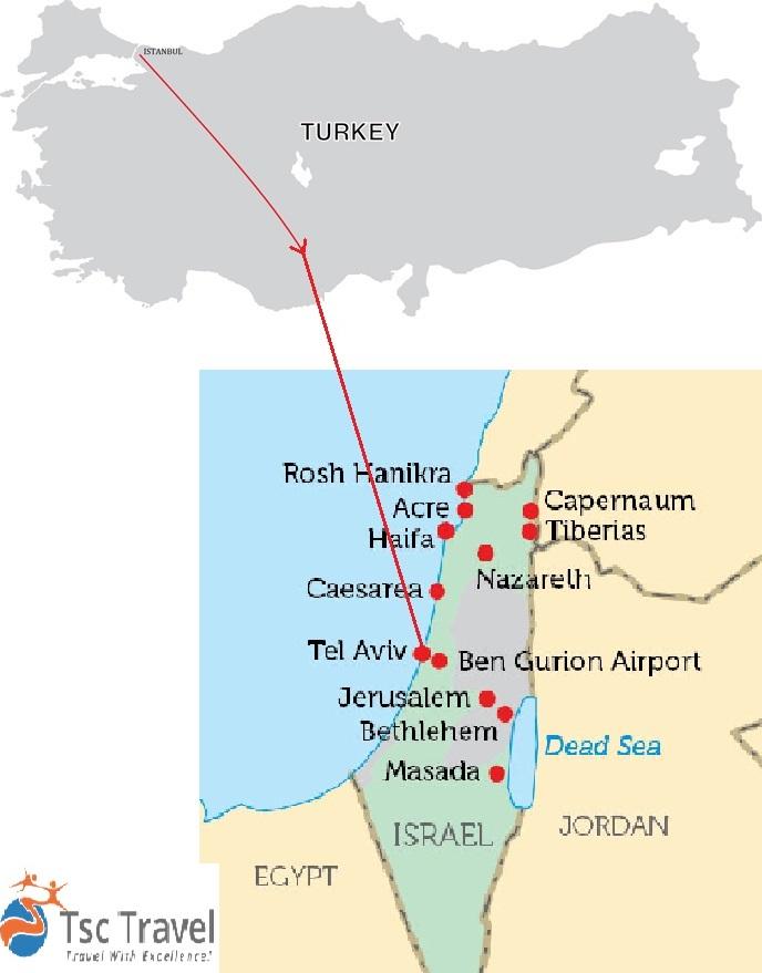 Viajes y circuitos baratos por turquia turkey tour specialist turquia israel clasicos tour mapa gumiabroncs Image collections