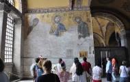 Disease mosaic in Hagia Sophia, Istanbul