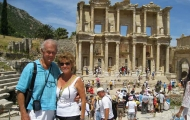Lovely couple in Celsus Library