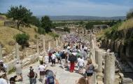 Amazing Marble Way in Ruins of Ephesus