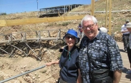 Lovely couple in trip of Gobeklitepe Ancient Temple