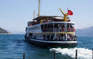 A Ferry sails into Bosphorus