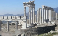 Ancient ruins of St. Jean Basilica in Pergamon