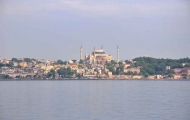 Uniqre view of Hagia Sophia from Bosphorus