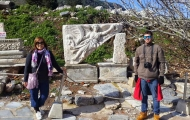 Lovely couple in Ruins of Ephesus