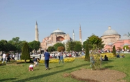 Beautiful frontyard of Hagia Sophia