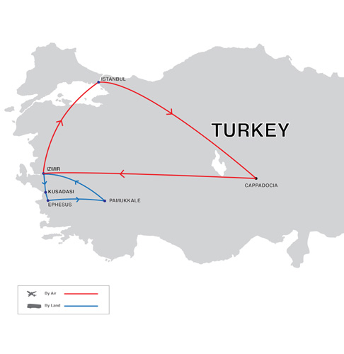 Turkey Exclusive Tour Map
