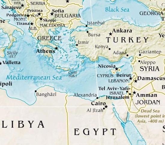 Turkey and jordan combined tour turkey tour specialist turkey and jordan highlights tour map gumiabroncs Choice Image