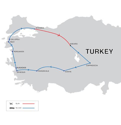 Turkey Specialist Tour Map